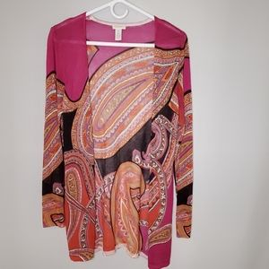 Chico's Tunic Length Thin Open Cardigan size 1